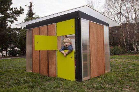 contemporary playhouse, eco-friendly playhouse, FSC certfied playhouse, KIDDO cabana, modern cabana, modern playhouse, non-toxic playhouse, prefab playhouse, prefabricated playhouse, sustainably made playhouse