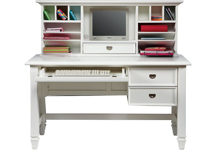 Belmar White 2 Pc Desk And Hutch Desks Colors Home