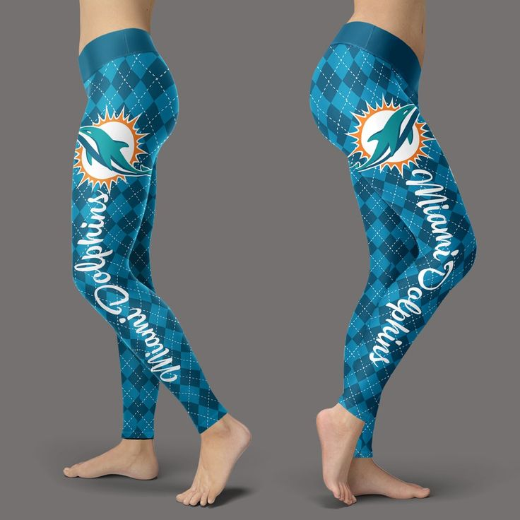 Cosy Seamless Border Wonderful Miami Dolphins Leggings – Best Funny Store