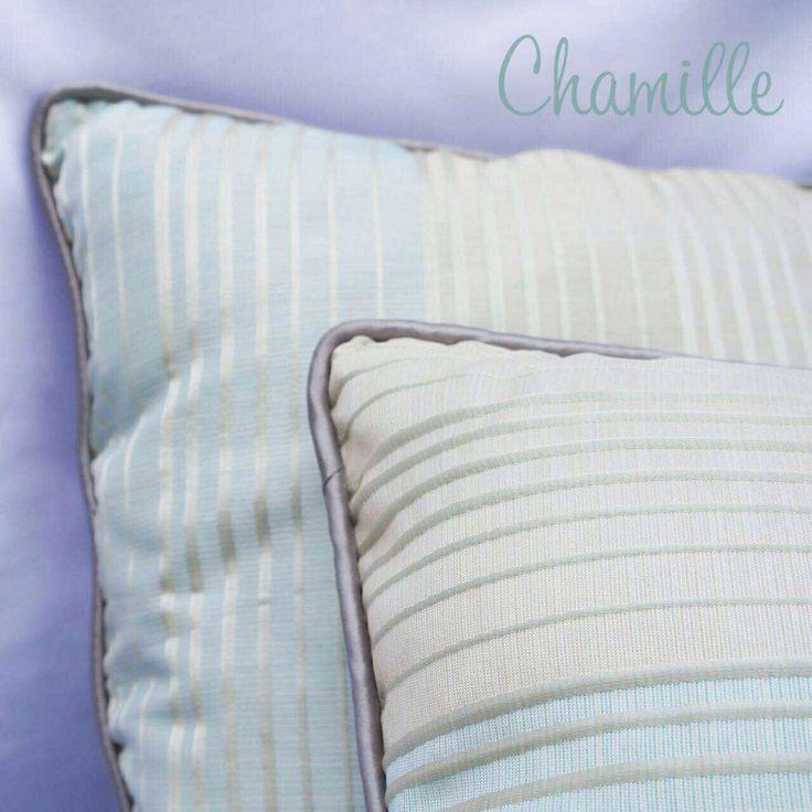 Accent pillow cushion blue stripe