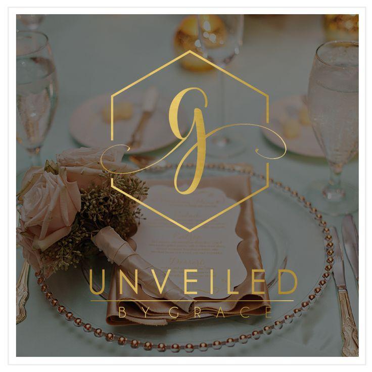Event Planner - Event Planning - Event Planner Logo - Event Planner Branding - Wedding Planner Logo - Gold Foil Logo - Geometric Logo Design - Calligraphy Logo