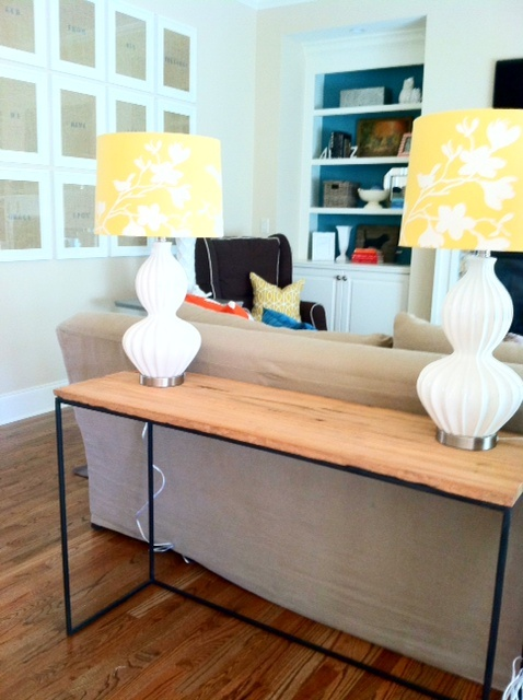 General idea of a table lamps for behind the couch my for Table behind couch