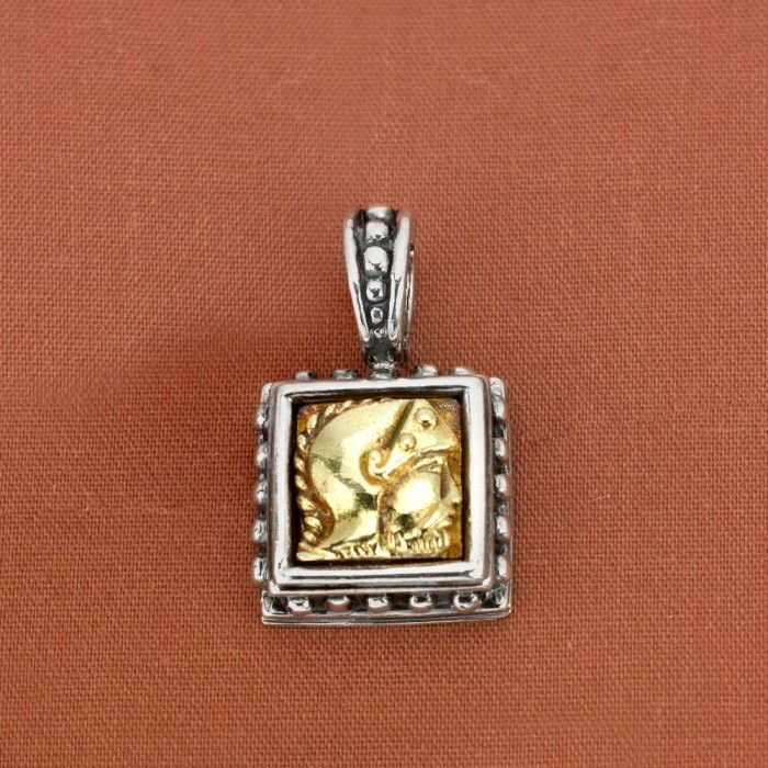 Frederica Sterling Silver & 18K Yellow Gold Intaglio Enhancer Pendant - $240.00