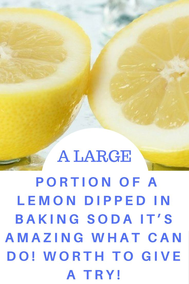 A LARGE PORTION OF A LEMON DIPPED IN BAKING SODA: IT'S AMAZING WHAT CAN DO! WORTH TO GIVE A TRY!