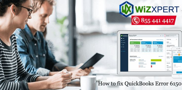 Learn how to fix Quickbooks Error 6150 and get support by dialing our Quickbooks Error Support Phone number @ + 1 855 441 4417 . Our expert team of professional resolve all your Quickbooks related issue. We have support and help to provide best solution to remove all your QB technical error. We have to provide the solution of QB error code 6150. If you get more info click this. https://www.wizxpert.com/quickbooks-error-support/