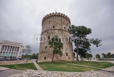 View over the White Tower of Thessaloníki, Greece