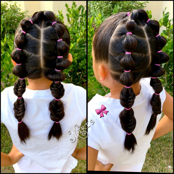 Pleasant 1000 Ideas About Little Girl Braids On Pinterest Girls Braids Short Hairstyles For Black Women Fulllsitofus