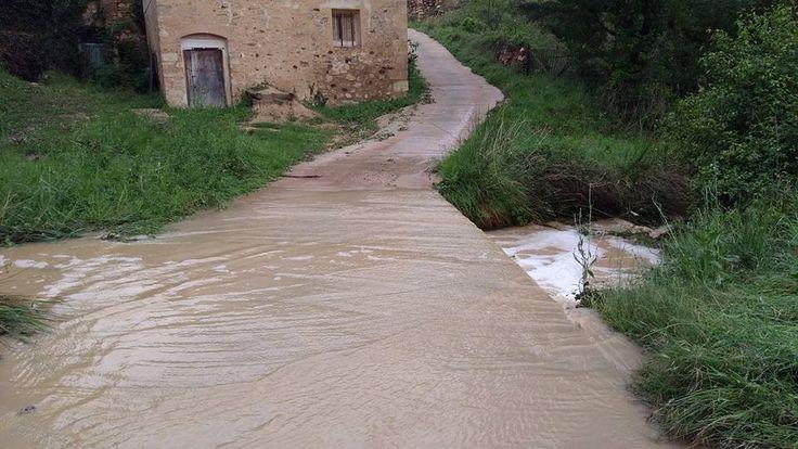 Lluvia y desbordamiento del Escuriza, Crivillén