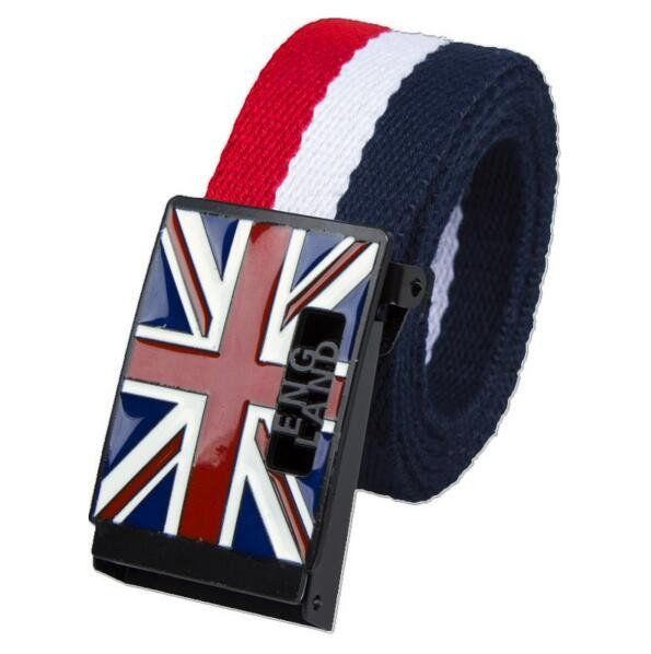 England Style High Quality Mens Canvas Belt - This belt is durable and stylish with jeans and casual wear. God Save The Queen!    Stocks are Limited on these Beauty Belts!