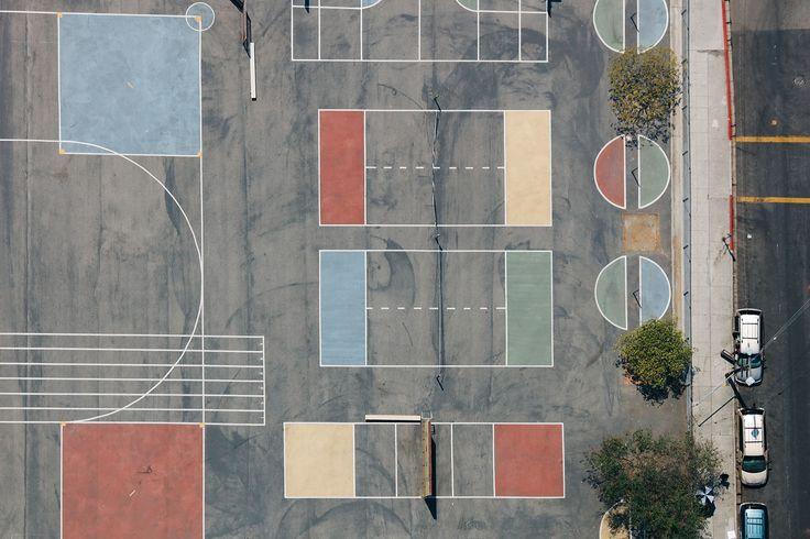 Parisian photographer Karl Hab - LA's basketball courts
