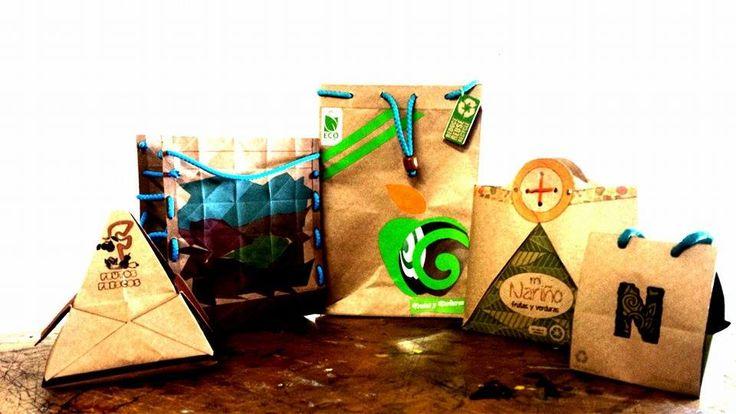 empaques para frutas y verduras del departamento de Nariño realizadas por 5 estudiantes de diseño industrial Universidad de Nariño