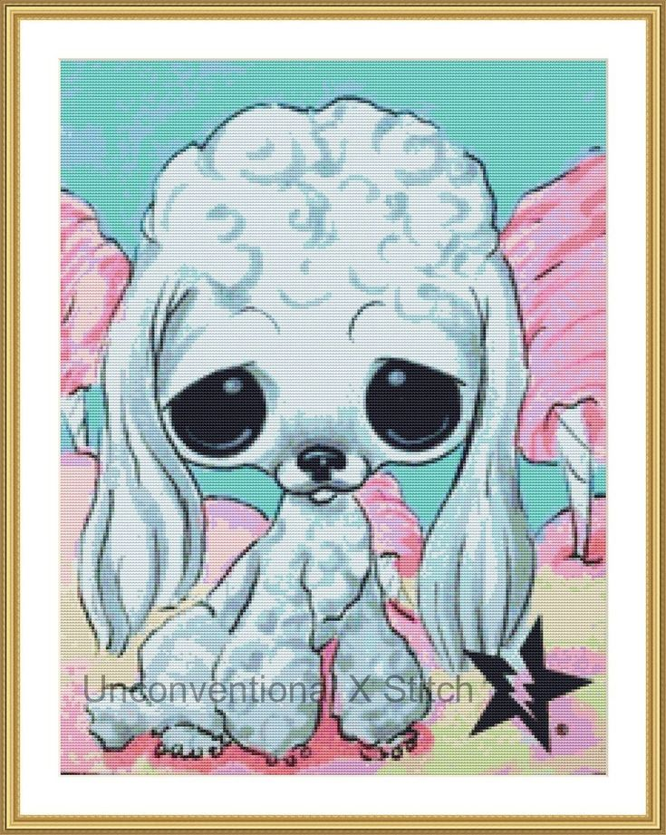 Poodle dog cross stitch pattern - Licensed Sugar Fueled by UnconventionalX on Etsy