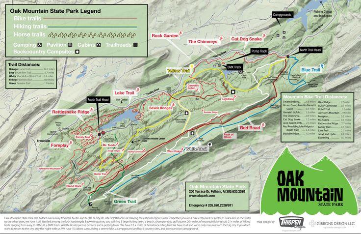 Oak mountain state park mountain mountain bike trail.