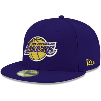Men's Los Angeles Lakers New Era Purple Official Team Color 59FIFTY Fitted Hat