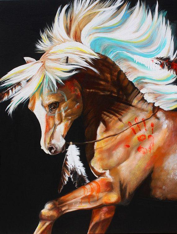 War Pony 8 x 10 Glossy Original Artwork Print by GhostRiverArt, $15.00