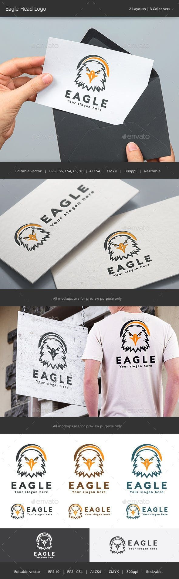Eagle Head Logo Eagle head, Vintage logo design, Logo