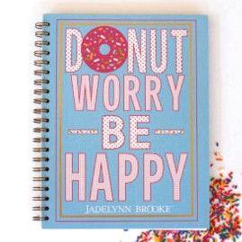 Donut Worry Spiral Journal by Jadelynn Brooke