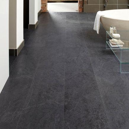Professional V Groove Basalt Slate laminate tiles Howdens Bathroom