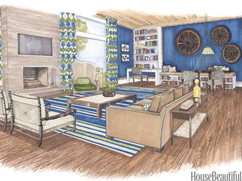 10 room sketches interior design