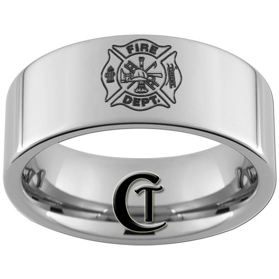 fireman ring: 10Mm Tungsten, Tungsten Carbid, Firewoman Rings, Design Rings, Firefighters Rings, Fireman Rings So, Fire Fighter, Rings Ideas