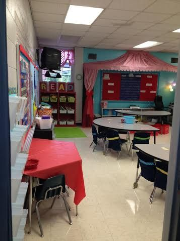 Learning Under the BIG TOP!  Check out the Schoolgirl Style blog to see this adorable carnival themed classroom! http://www.schoolgirlstyle.com/2013/11/7035/