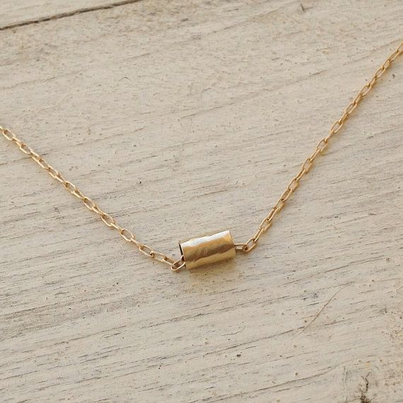 gold necklace tube necklace tiny gold tube necklace by amitvtamar, $20.00 exactly similar to the one worn by serena throughout season 3 of Gossip Girl
