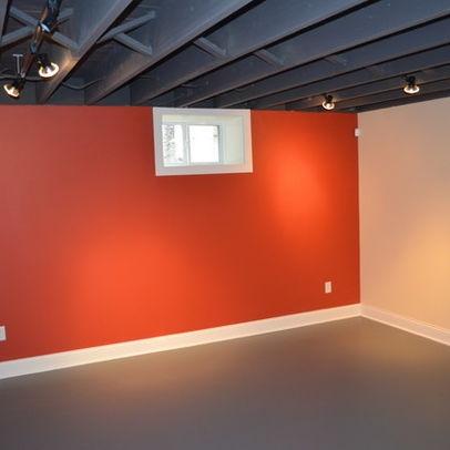 Unfinished Basement Media Room