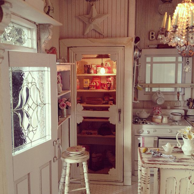 Kim Saulter's shabby cottage kitchen... and I don't even like shabby chic! Her attention to detail (and photography) always wins me over.