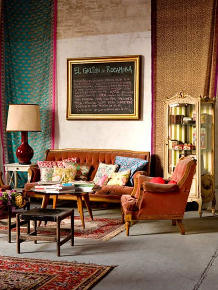 Bohemian Interior Design Ideas For Rest Seating Area: Bohemian Interior Design