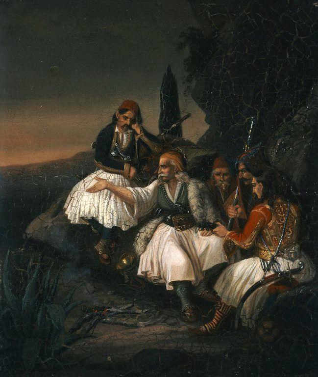 Πολεμικό συμβούλιο (πίνακας του Θ. Βρυζάκη 1819-1878).