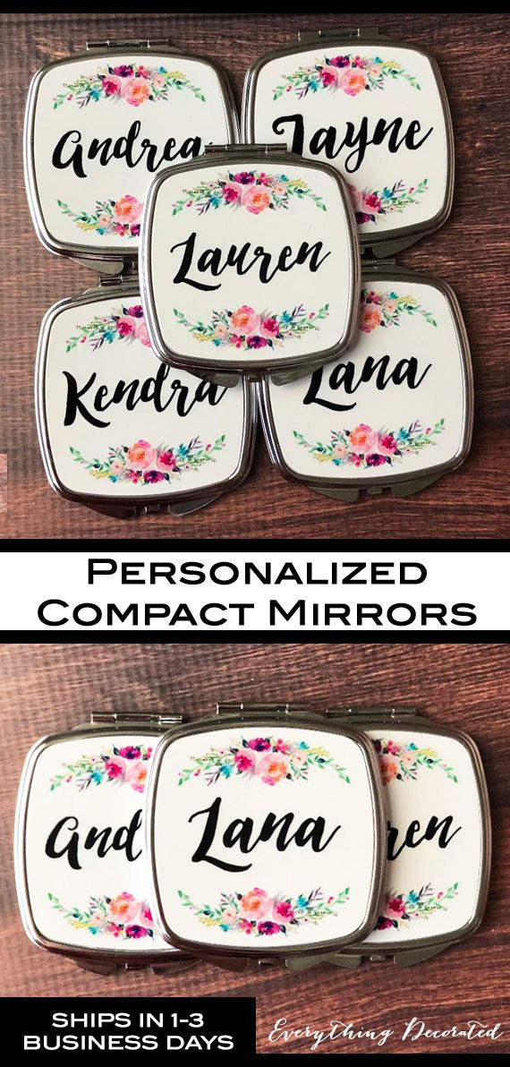 couples bridal shower gift ideas%0A Bridesmaid Mirror Compacts  Personalized Compact Mirror Bridesmaid Compact  Mirror Custom Compact Mirror Flower Girl Gift Ideas Unique Bridal Shower  Gifts