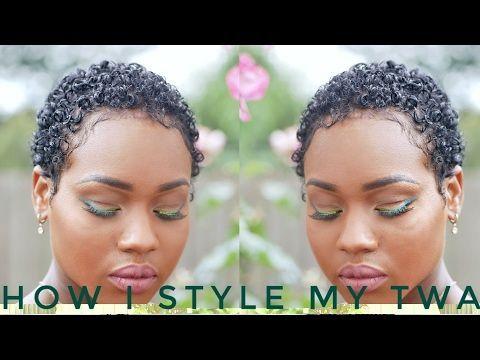 Wash n Go On Short Natural Hair | TWA/Big Chop | Nia Hope - YouTube