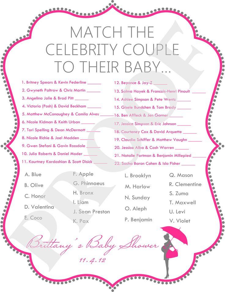 clebrity baby shower celebrity baby shower game jpeg file pink