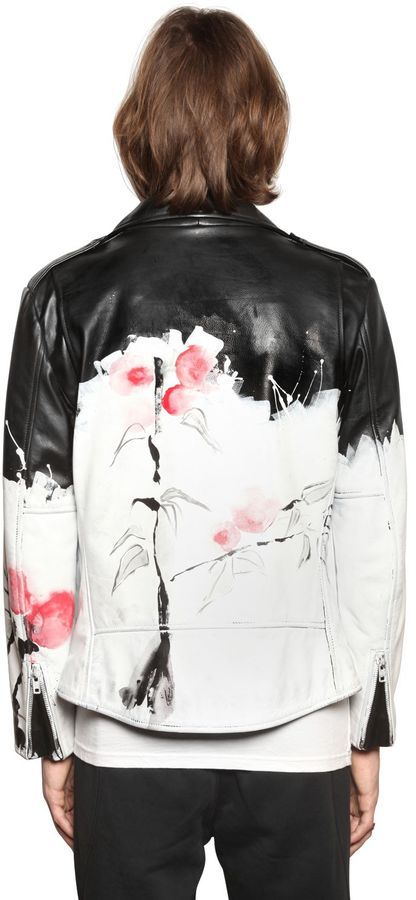 Hand-Painted Nappa Leather Jacket