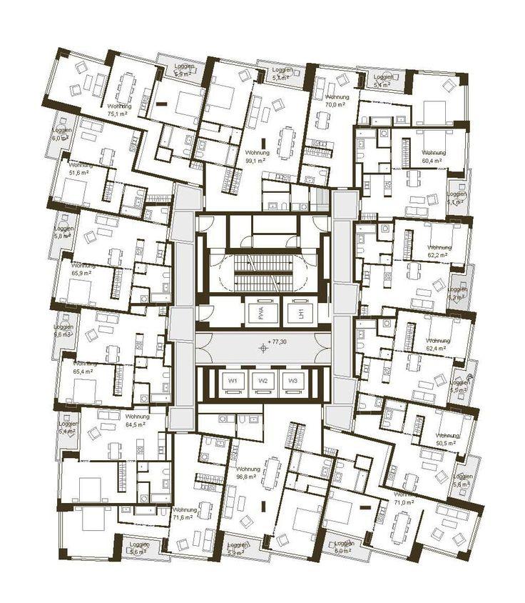Hochhaus Grundrisse Bilder Auf