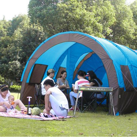 Xmund XD-ET4 8-10 People C&ing Tent Waterproof Tunnel Double Layer Large Family & Best 25+ Tunnel tent ideas on Pinterest | 20 person tent 10 ...