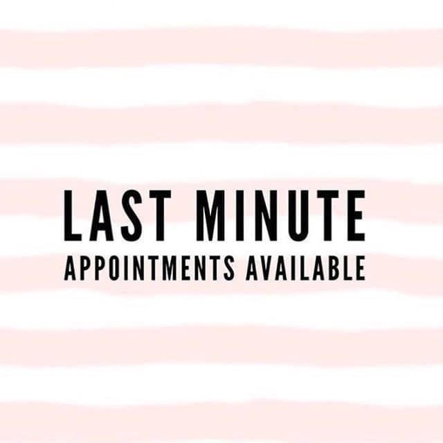 Some Last Minute Appointments Have Opened Up For Today Set Up An Appointment With Now And You Will Receive Hair Quotes Hair Salon Quotes Hairstylist Quotes