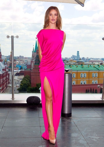 Wish I had somewhere to wear this; what a gorgeous color!: Rosie Huntington Whiteley, Maxi Dresses, Pink Dresses, Michael Kors, Red Carpets, Hot Pink, Photo Galleries, Rosie Huntingtonwhiteley, Rosiehuntingtonwhiteley