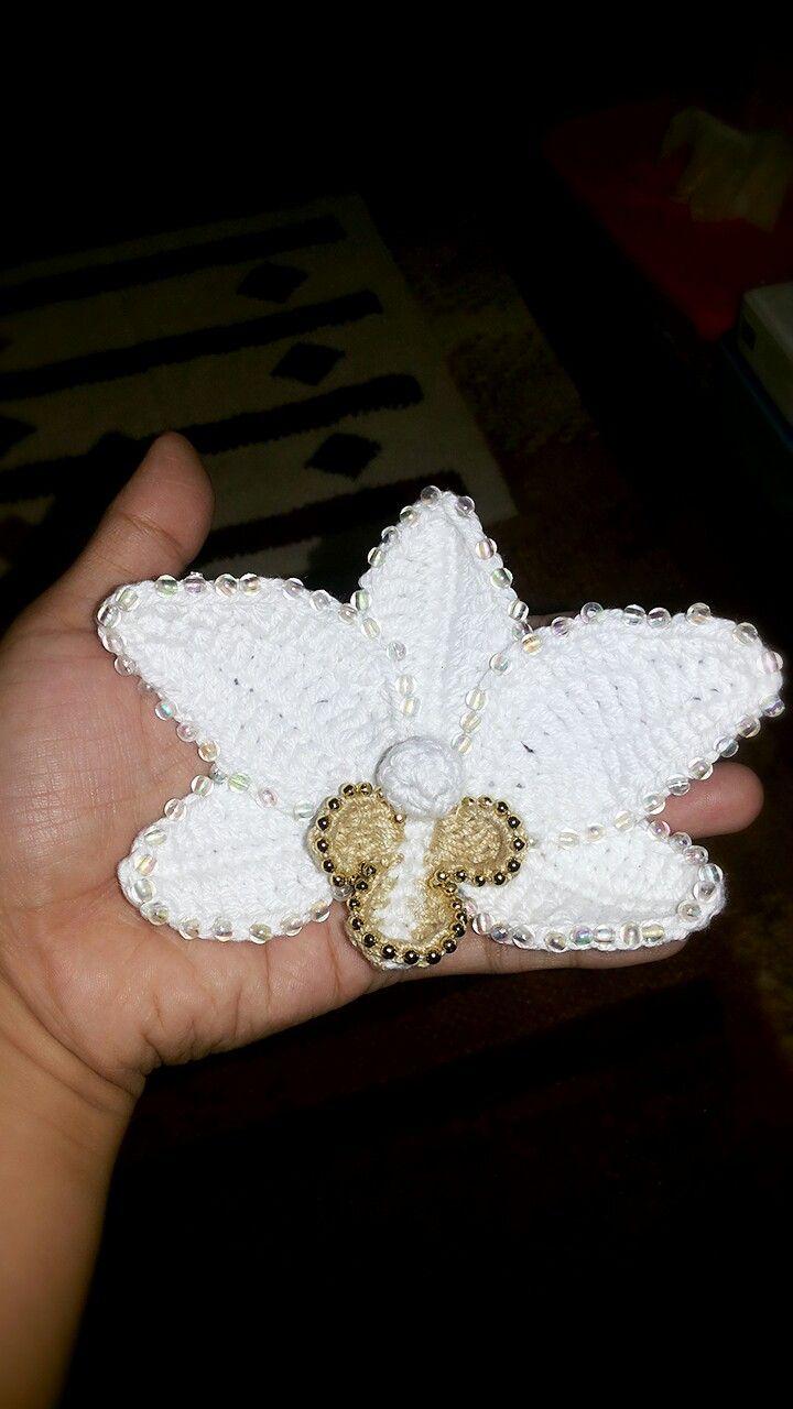 Orchid crochet