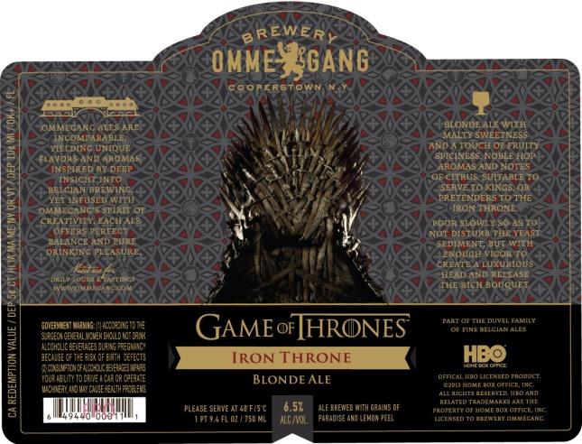 Iron Throne Blond Ale: A cerveja da série Game of Thrones
