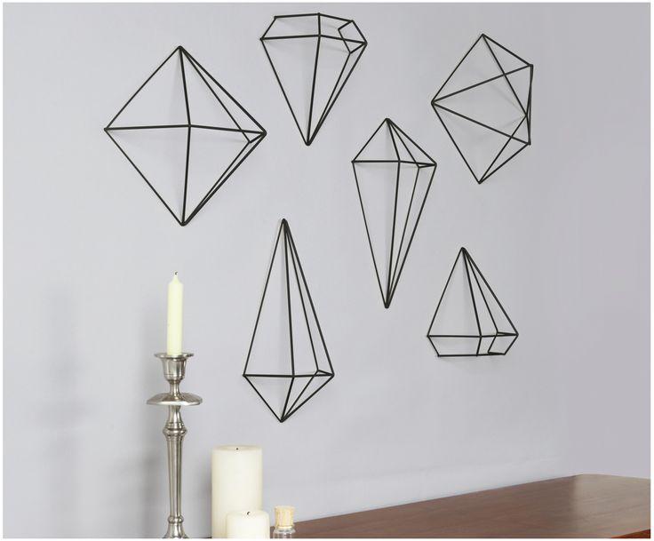 AFFILIATELINK | Wandobjekte Set Prisma, 6 Stück, skandinavisch, Design, Minimal …   – Dekoration | DIY, modern & minimalistisch