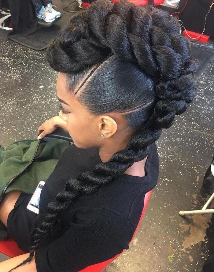 1001 Idees Comment Faire Une Tresse Africaine Tuto Et Modeles Cheveux Afro Coiffure Coiffure Mariage