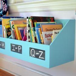 Repurpose an organizer/file bin into a kids bookshelf with a little customization and paint!