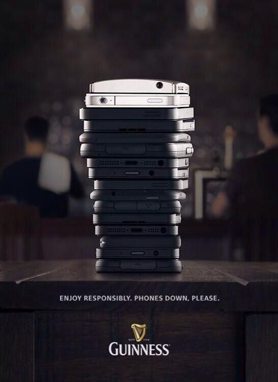A clever ad from Guinness tells you exactly what you can do with your cell phones.