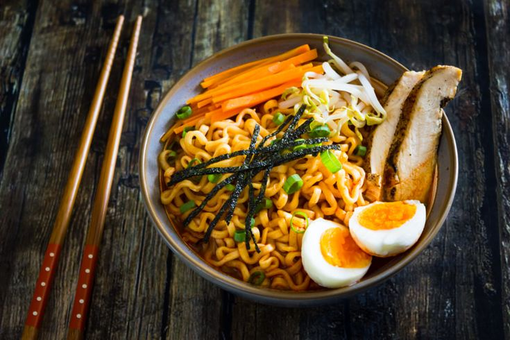 Ramen with grilled chicken and egg