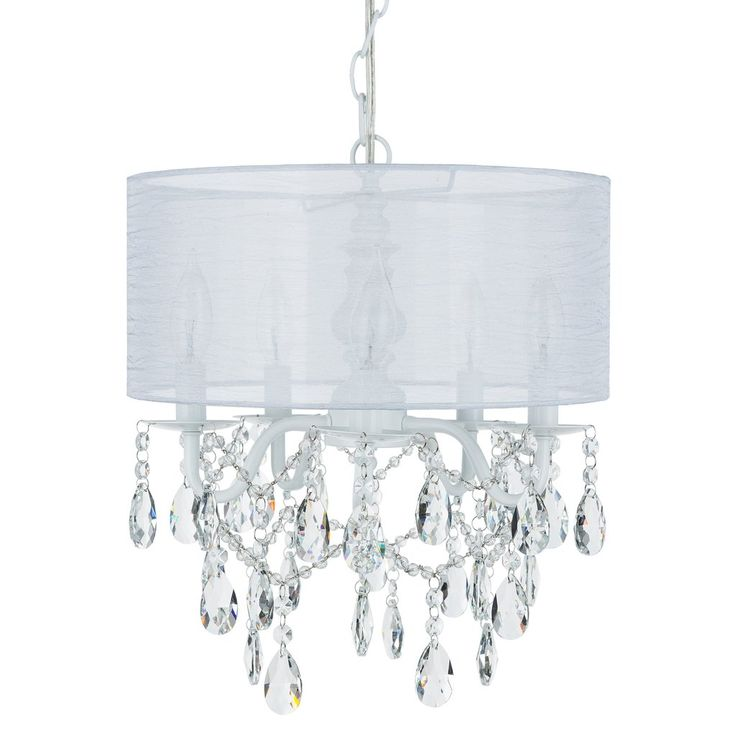49 best shop crystal chandeliers by amalfi dcor images on pinterest 5 light crystal plug in chandelier with cylinder shade white aloadofball Images