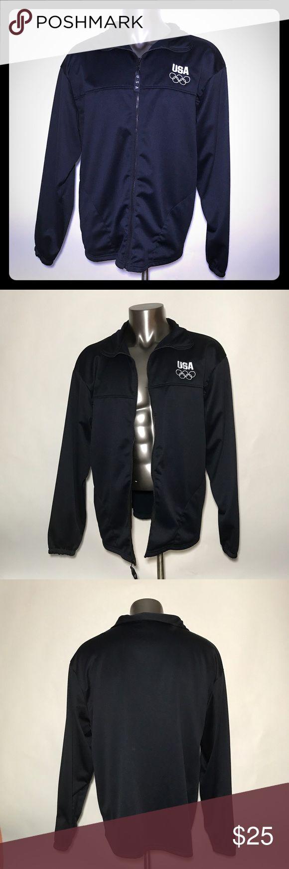 USA Olympic Committee Warm Up Jacket Blue XXL USA United States Olympic Committee Warm Up Jacket Blue men's XXLarge Zip EUC USA Olympic Jackets & Coats Lightweight & Shirt Jackets