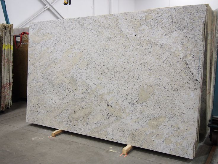 Fantastic White Granite slab sold by Milestone Marble | Size: 124 x 70  x 3/4 inches