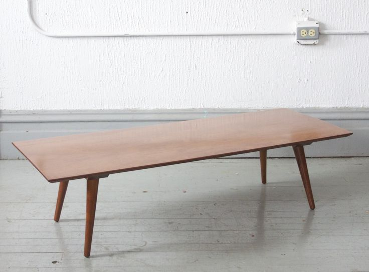 beautiful paul mccobb coffee table refinished in a warm honey walnut stunning great simple modern style pure mcm made of maple with a lovely grain