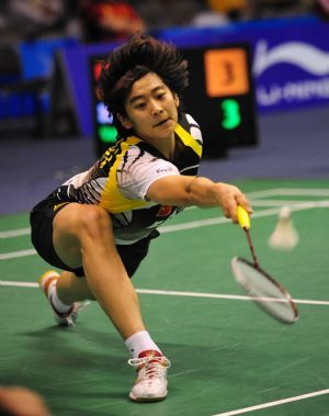 Badminton Pose
